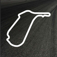Mallory Park Circuit Outline decal