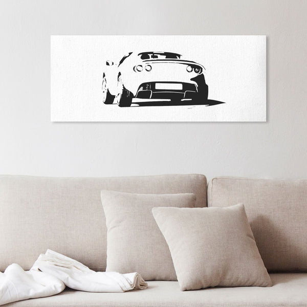 Elise S2 in action silhouette canvas art