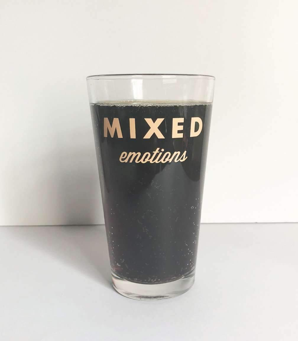 Mixed Emotions Glass
