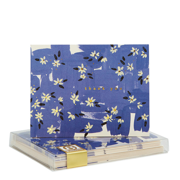 Ebony Snow Blue Babbington Noteset