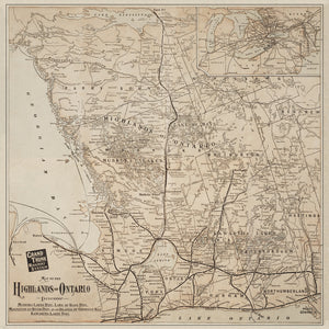 Ontario Highlands - Grand Trunk Railway Map from 1903