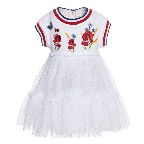 Monnalisa Bebe' Girls Poppy Tulle Sports Dress