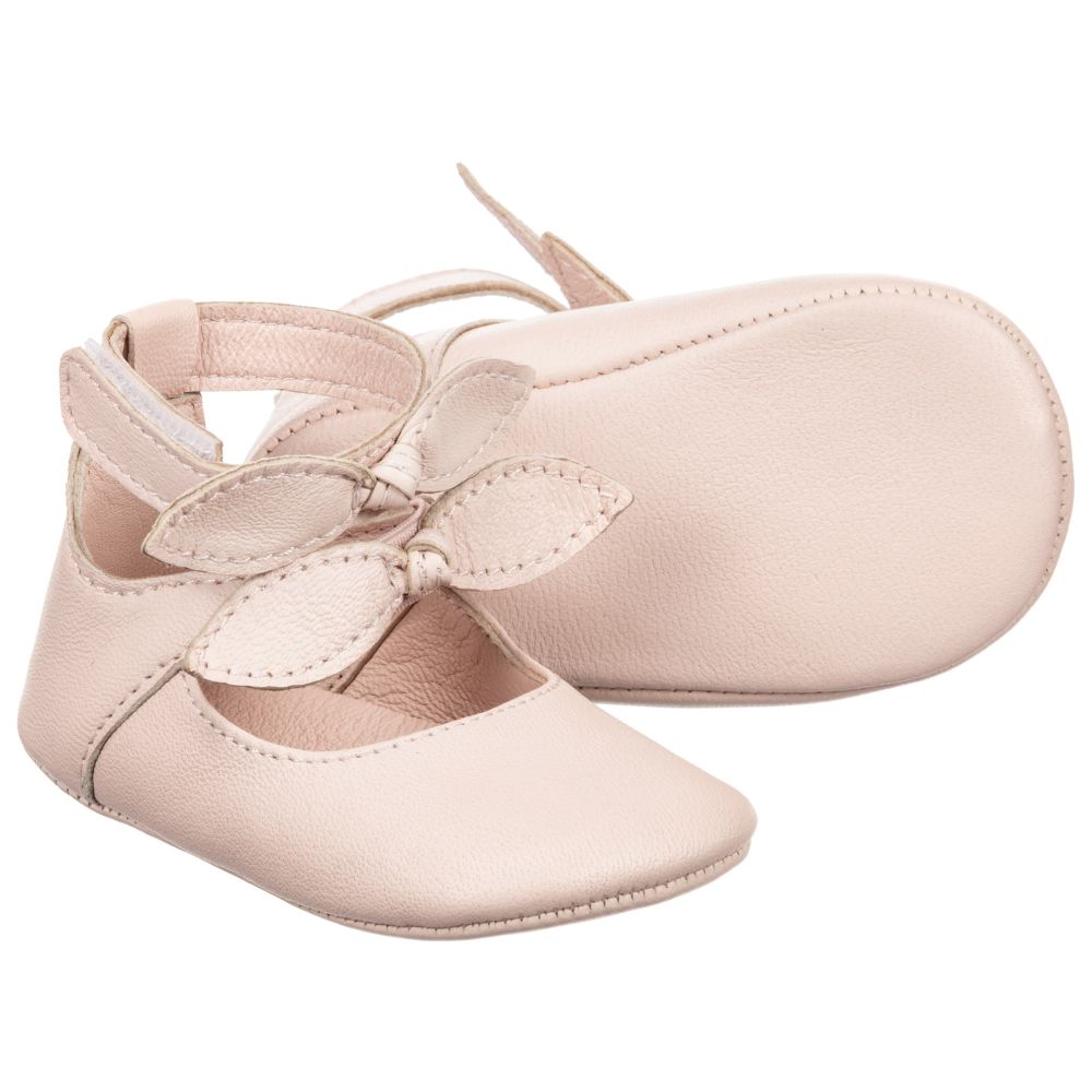 Chloé Pink Leather Pre-Walker Shoes