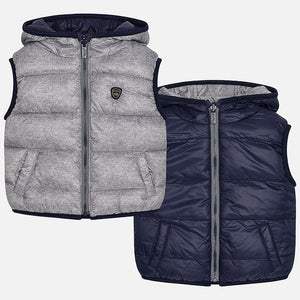 Mayoral Baby Boys gris reversible chaleco