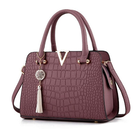 Vogue Star Crocodile Texture Handbag - 7 colours - The Bag Culture