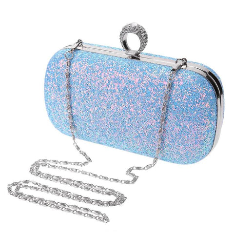 Glittery Ring Box Evening Clutch - 3 colours - The Bag Culture
