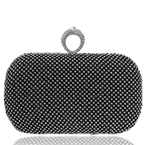Studded Ring Box Evening Clutch - 3 colours - The Bag Culture