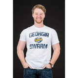 "Men's  Gray ""Georgia Swarm"" Distressed Tee"