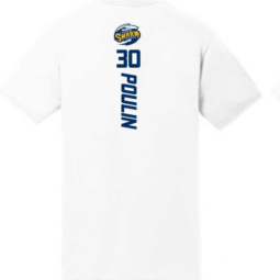 White SS #30 Poulin Name & Number Tee