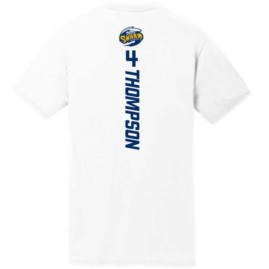White SS #4 L. Thompson Name & Number Tee