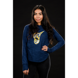 UA Women's Stadium Navy Long Sleeve Hoodie