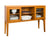 "WE Furniture 52"""" Hepworth Wood Buffet with Tapered Legs - Acorn"