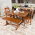 WE Furniture Millwright 6 Piece Wood Dining Set - Antique Brown