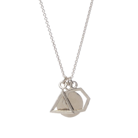 Geo Charm Pendant Necklace - Bing Bang Jewelry NYC