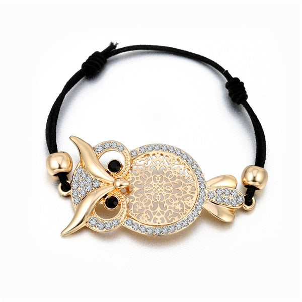 Charme Eulen Armband - Gold & Silber