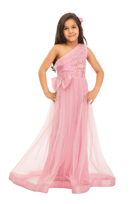 Girls Baby Pink Gown