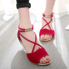 Fashion Pure Color Low Heel Sandals