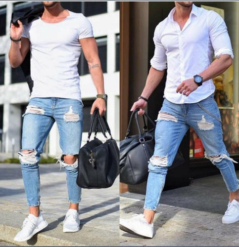 Ripped Mens Jeans