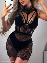 Lace Hanging Neck Hollow Backless Sexy Pajamas