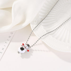 Christmas Gift Snowman Aromatherapy Pendant Necklace