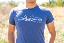 Load image into Gallery viewer, #yeahTHATgreenville Liberty Bridge T-Shirt (Navy)