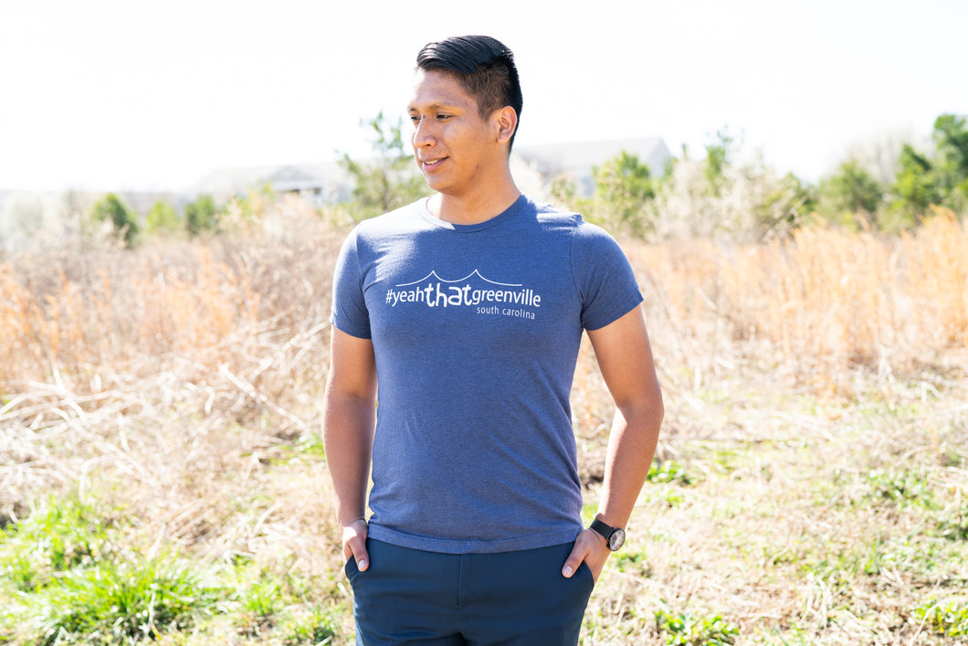 #yeahTHATgreenville Liberty Bridge T-Shirt (Navy)