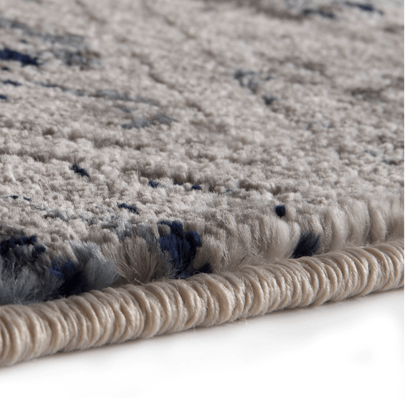 Corso Azzurro Braddyville Multi Pattern Rug With Grey And Blue Accents