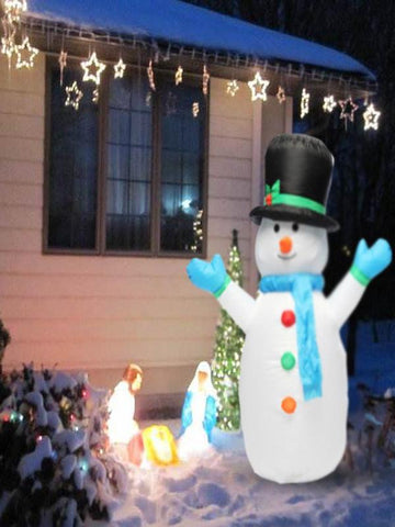 4ft Airblown Christmas Inflatable Snowman Outdoor Xmas Decoration - Zebrant