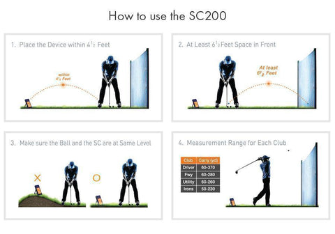 Swing Caddie SC200 Golf Launch Monitor - How to Use