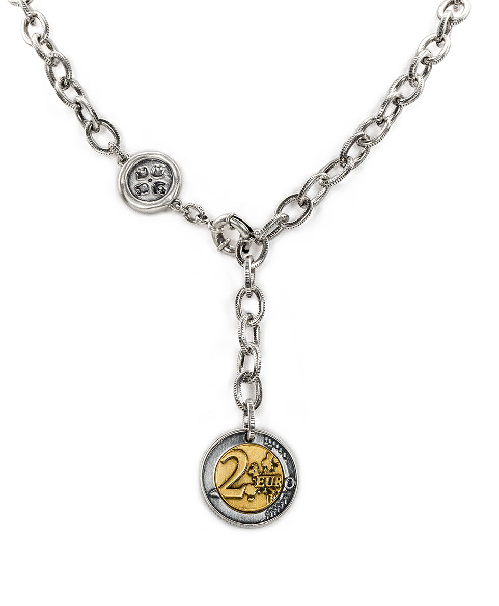 World Coin Silver Ox Single Y Necklace 2
