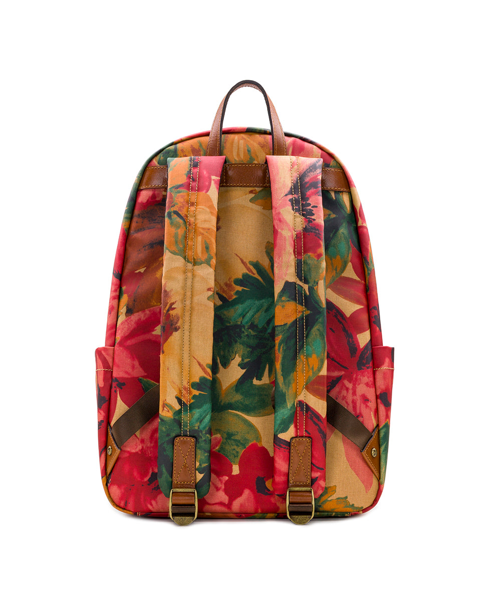 Genoa Backpack - Patina Coated Canvas Spring Multi 2