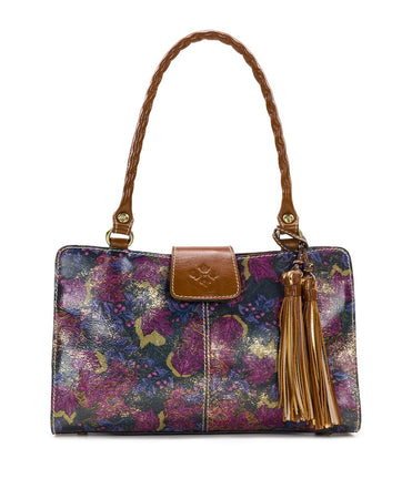 Rienzo Satchel - Metallic Dusted Paisley - Rienzo Satchel - Metallic Dusted Paisley
