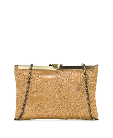 Asher Frame Clutch - Embossed Paisley - Asher Frame Clutch - Embossed Paisley