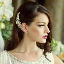 Load image into Gallery viewer, Chloe Floral Pearl Bridal Hair Comb