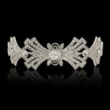 Load image into Gallery viewer, Crystal Embellished Art Deco Bridal Tiara