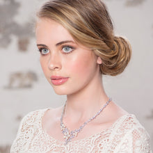 Load image into Gallery viewer, Extravagance Freshwater Pearl & Crystal Silver Necklace & Earring Set