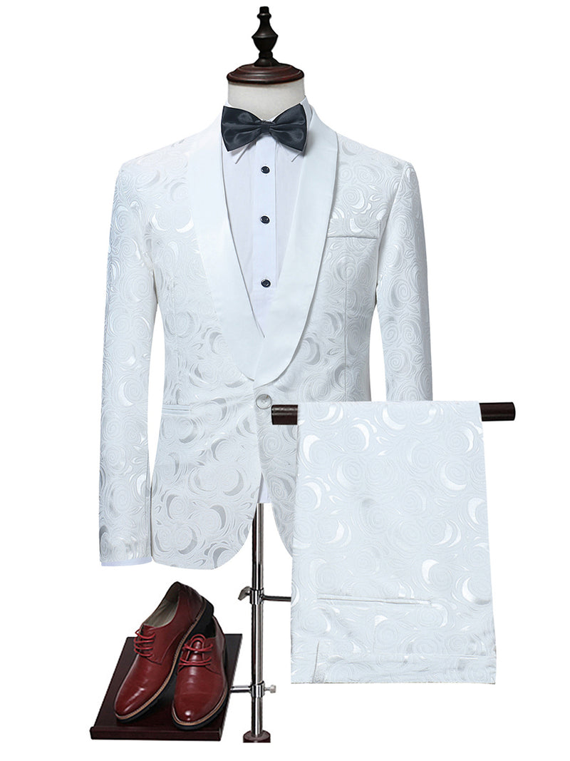 Costume habillé de luxe Slim Fit White Men