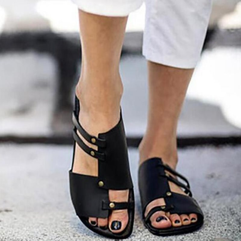 Causal Low Heel Summer Beach Flat Sandals