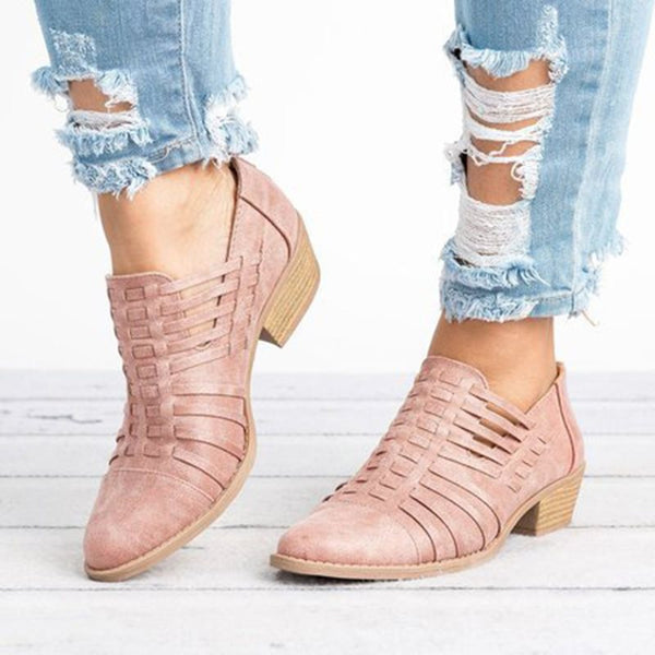 Chunky Heel Women Plus Size Shoes Fashion