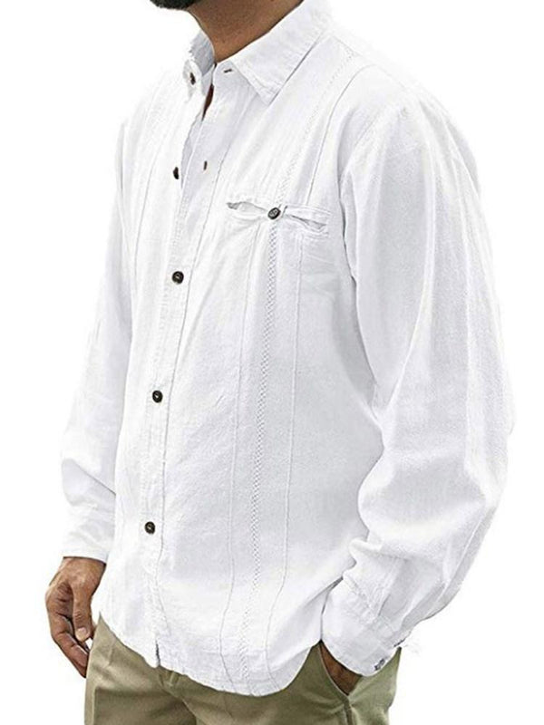 Lapel European Button Single-Breasted Loose Shirt