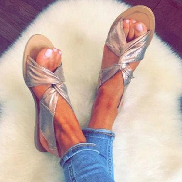 Slip-On Open Toe Flat With Western Sandals