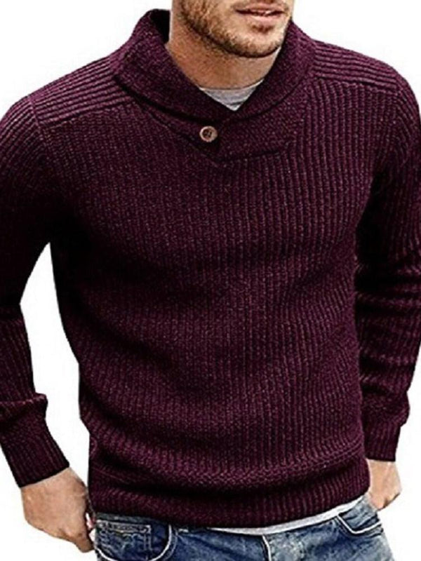 Standard Plain Fall Slim Sweater