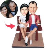 Couple In The Chair Custom Bobblehead