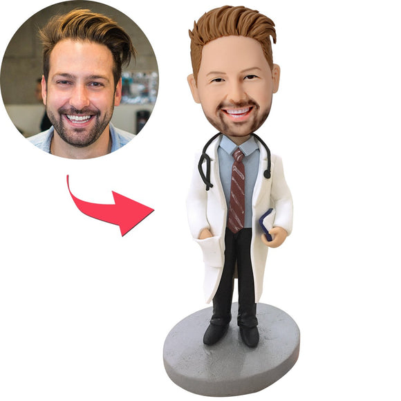Doctor With Stethoscope Custom Bobblehead