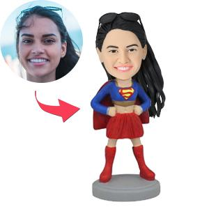 Superhero Woman Custom Bobblehead