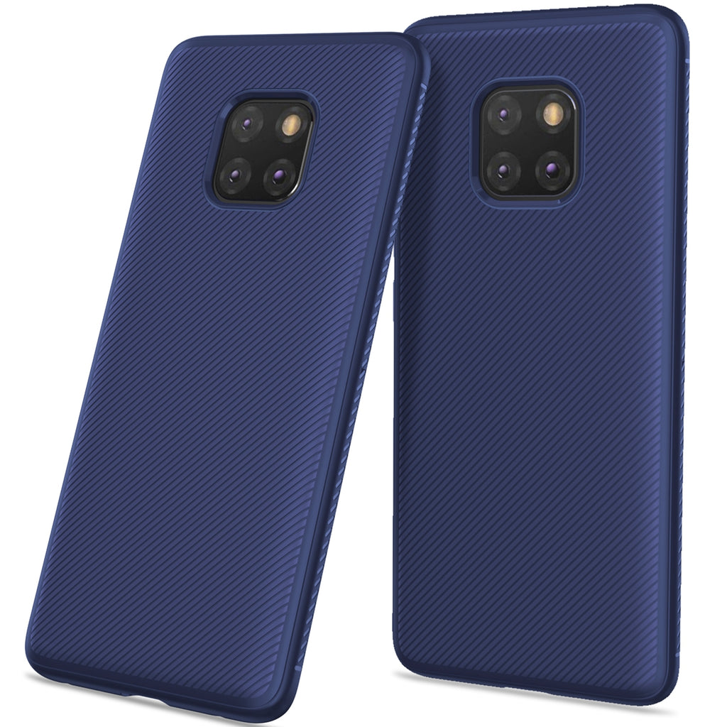 Huawei Mate 20 Pro Case Soft Silicone TPU Scratch Resistant Protective Thin Shell Mobile Phone Back Case (Dark Blue)