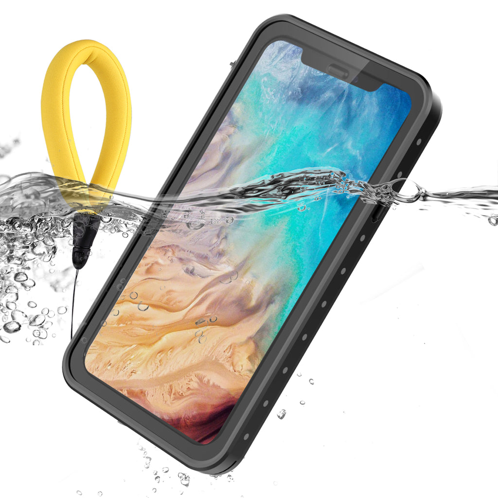 iPhone XS Max Waterproof Case IP68 Certified with Floating Strap