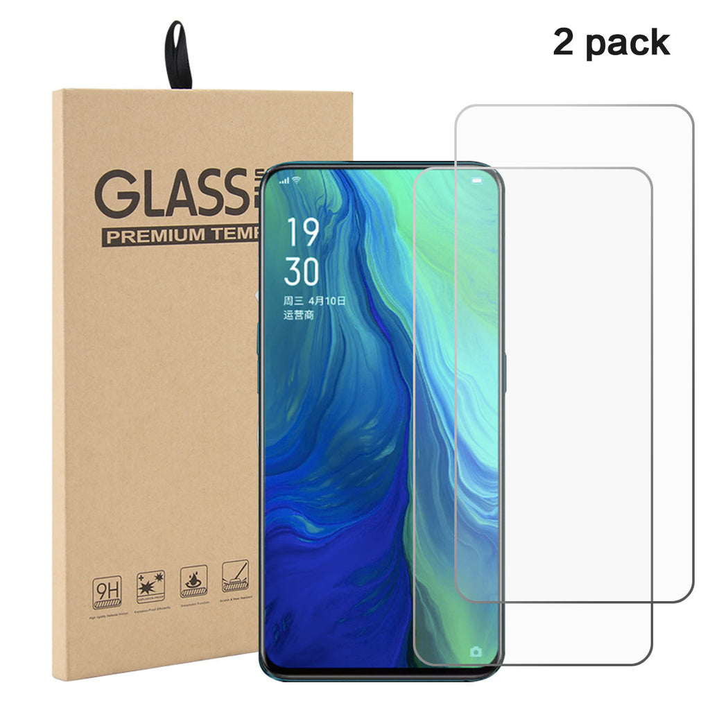 OPPO Reno 10X Zoom Screen Protector  Touch ID Glass Film 2 Pack