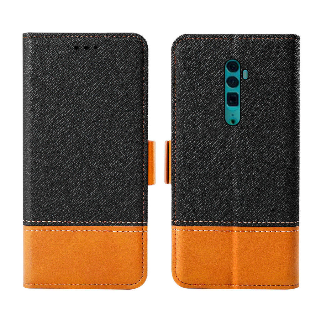 OPPO Reno 10x Zoom Wallet Case with Card Slot Kickstand Magnetic Closure Black
