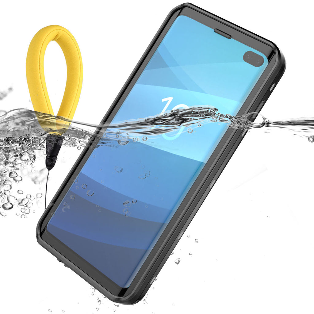 Waterproof Case for Galaxy S10 Plus Samsung with Floating Strap with Built in Screen Protector